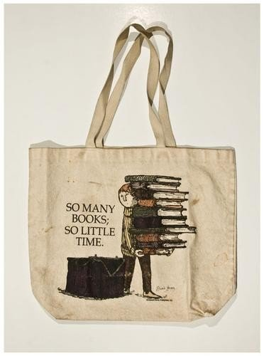 "20: GOREY, Edward (1925-2000) Signed tote bag: ""So Man"