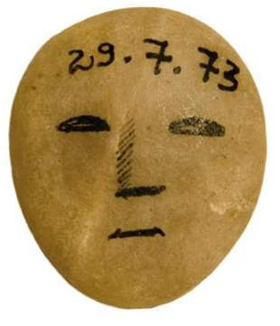 GOREY, Edward (1925-2000) Rock with Painted Face