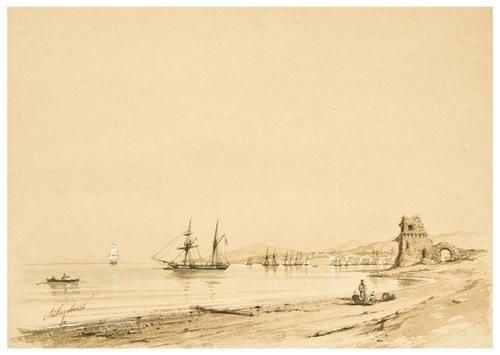 107: AIVAZOVSKY, Ivan (1817-1900) Ships on the Coastlin