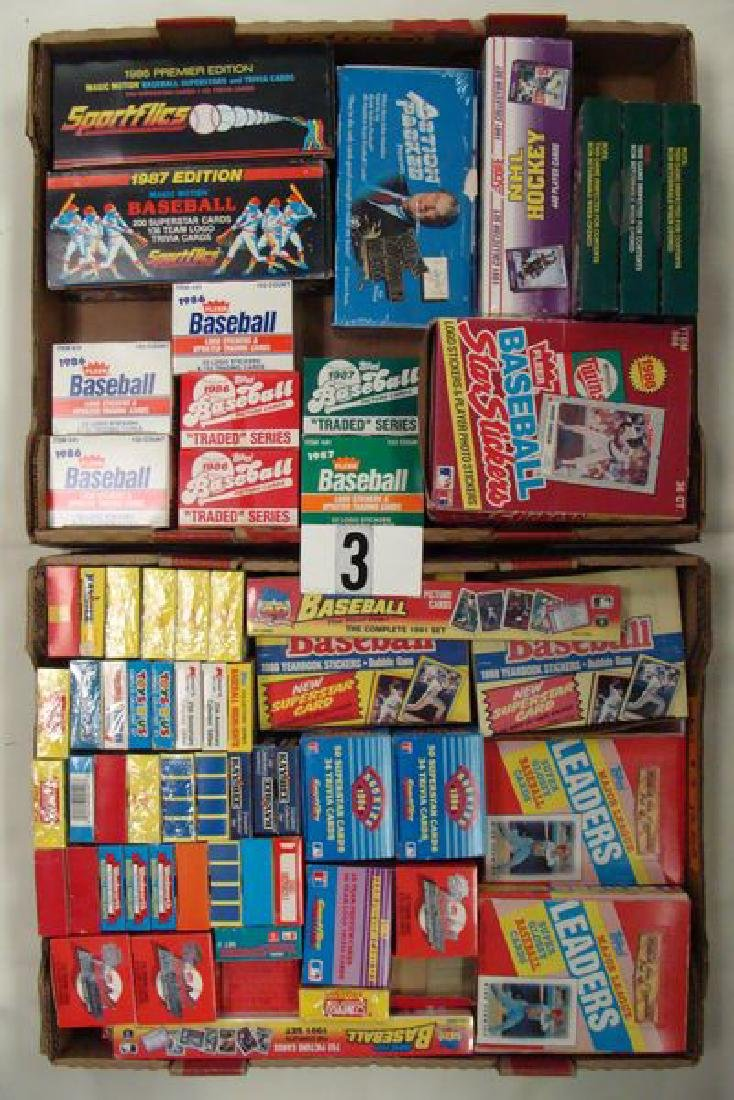 (2) GRAB BOXES: LOT INCLUDES BB TRADED SETS,