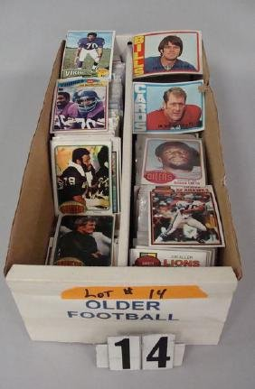 BOX OF OLDER FOOTBALL CARDS