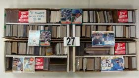 (4) TWO-ROW BOXES OF SPORTS CARDS