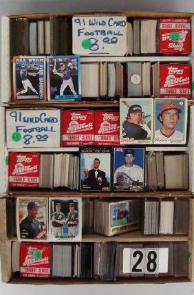 (3) TWO-ROW BOXES OF SPORTS CARDS