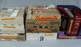 BOX WITH (12 ASSTD.) USED SPORTS CARD