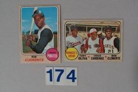 1968 TOPPS #150 BOB CLEMENTE & #480