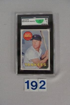 1969 TOPPS #500 MICKEY MANTLE - SGC EX