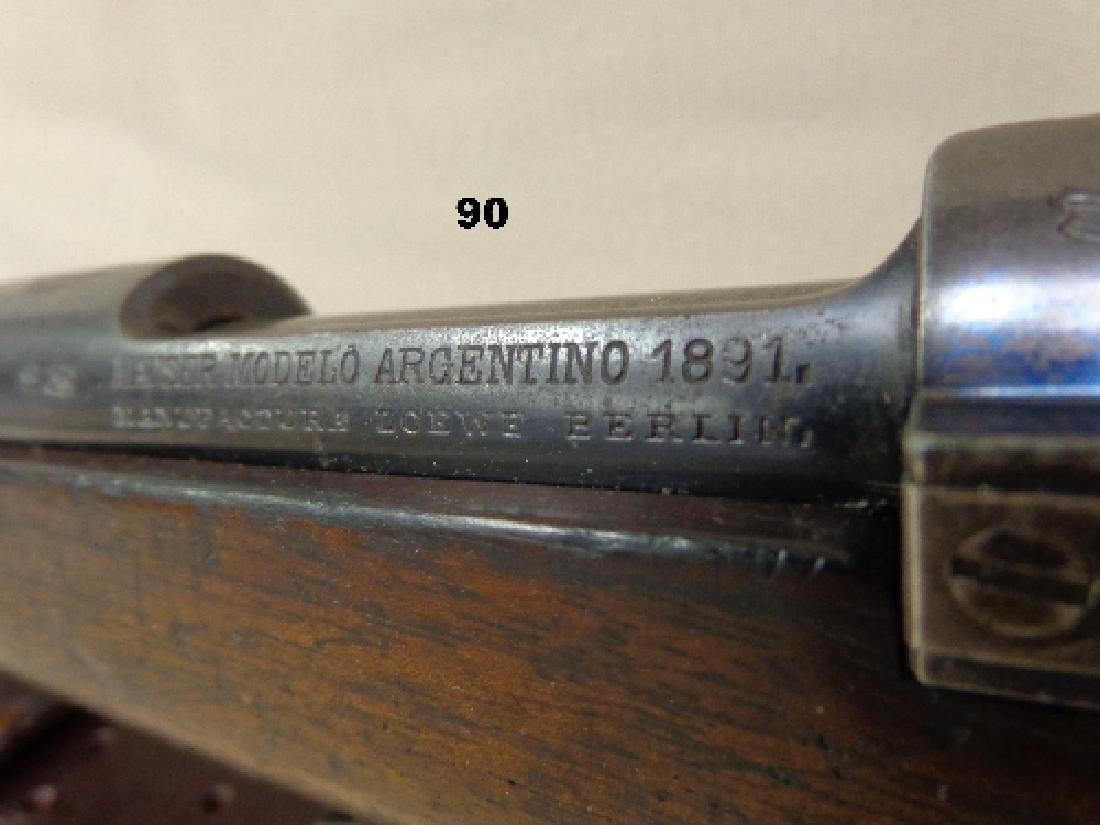 MAUSER MODEL-1891, 8 MM BOLT ACTION RIFLE, - 4