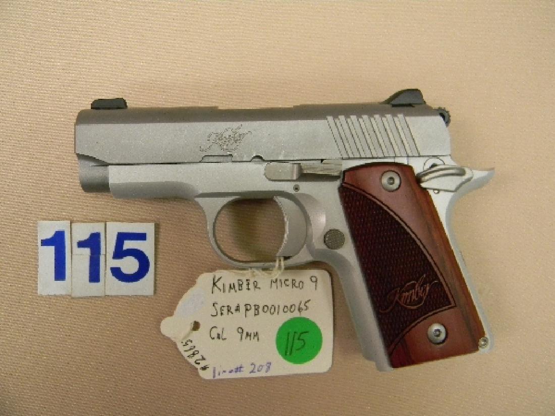 KIMBER MICRO-9, 9MM SEMI-AUTO HAND GUN - 3