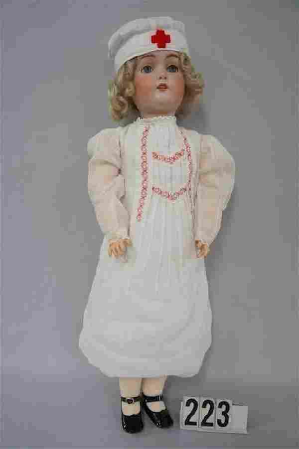 KESTNER 24 INCH BISQUE HEAD CHILD #168, SLEEP EYES,