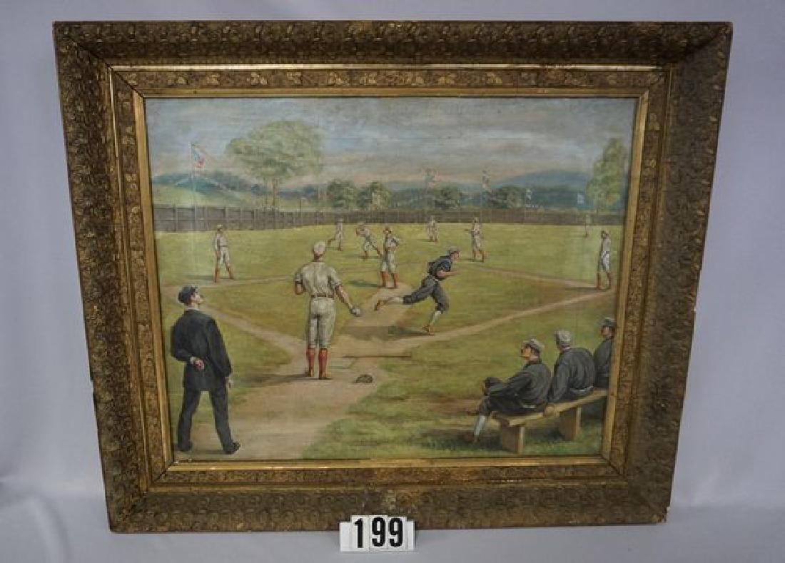 VINTAGE FRAMED OIL PAINTING ON CANVAS