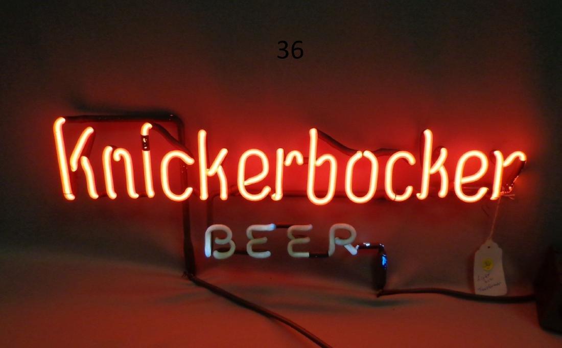 KNICKERBOCHER BEER NEON LIGHT,