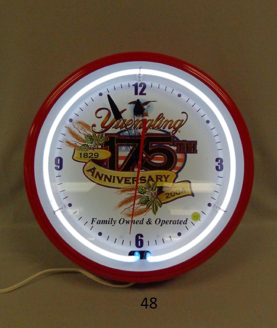 YUENGLING 175TH ANNIVERSARY CLOCK