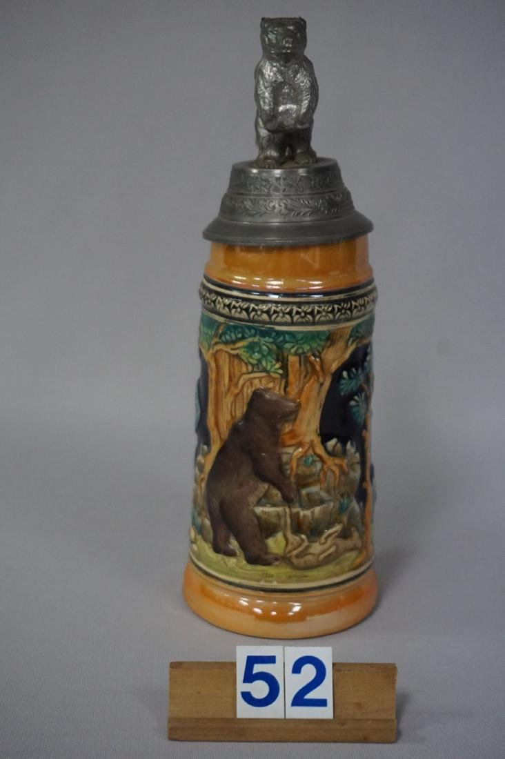 NEUWEILER BEER 'GRIZZLY BEAR' BEER STEIN - 2