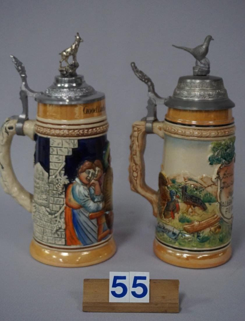 (2 PIECES) NEUWEILER BEER STEINS: - 2