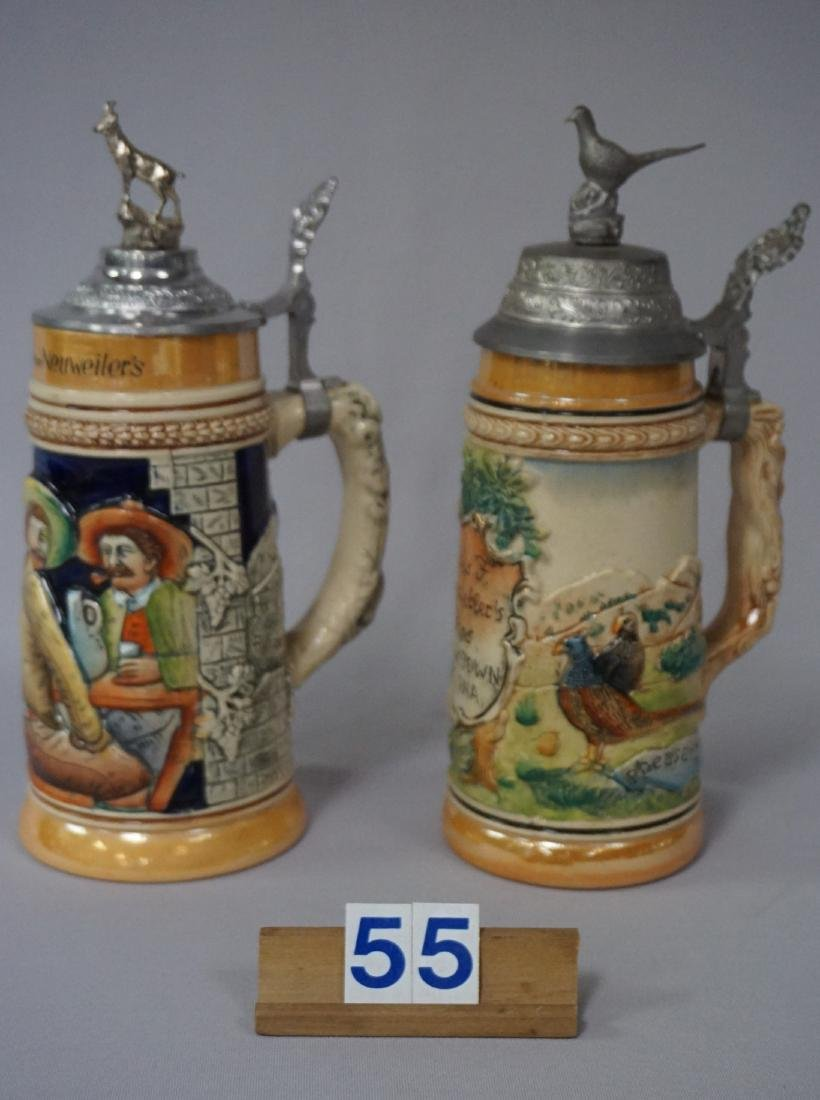 (2 PIECES) NEUWEILER BEER STEINS: - 3