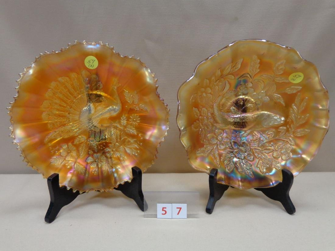 (2 PIECES) CARNIVAL GLASS: