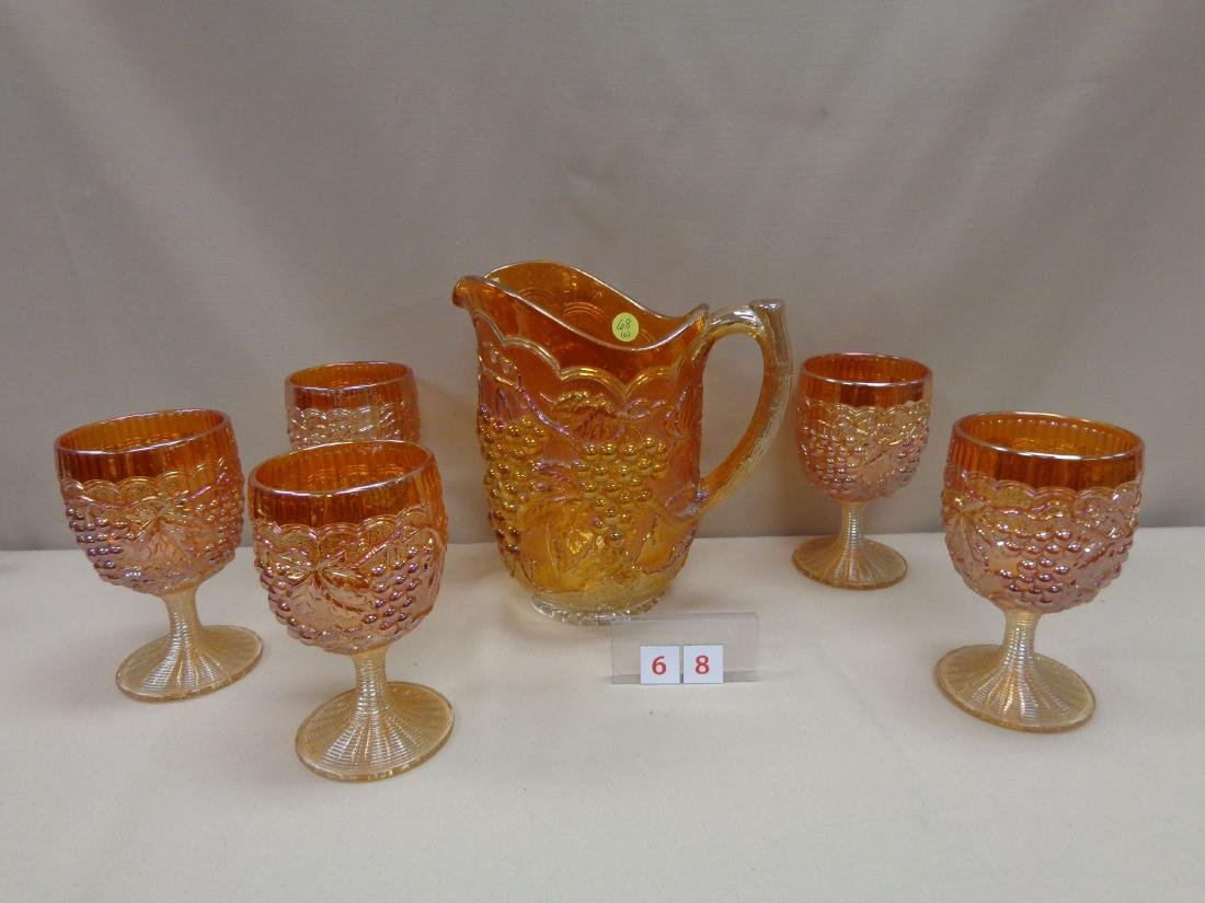 (6 PIECES) CARNIVAL GLASS: