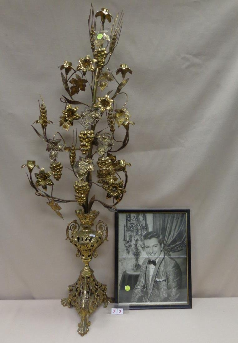 BRASS CANDELABRA FROM LIBERACE ESTATE,