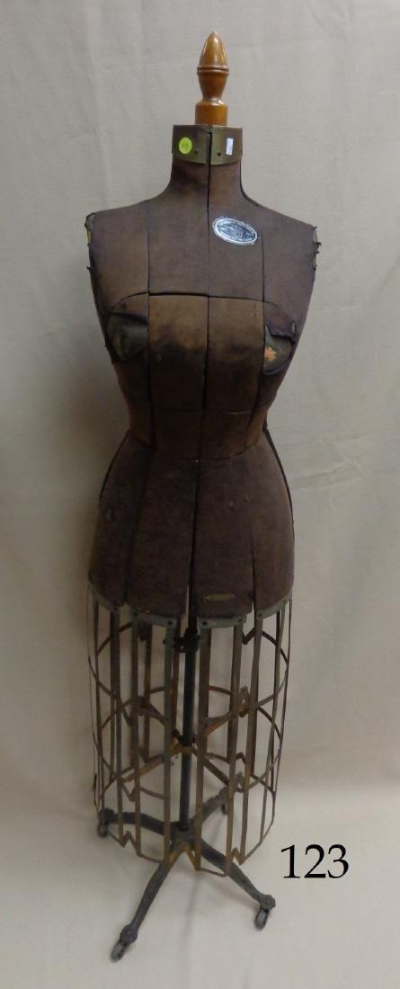 ANTIQUE DRESS FORM PATENTED 1906,