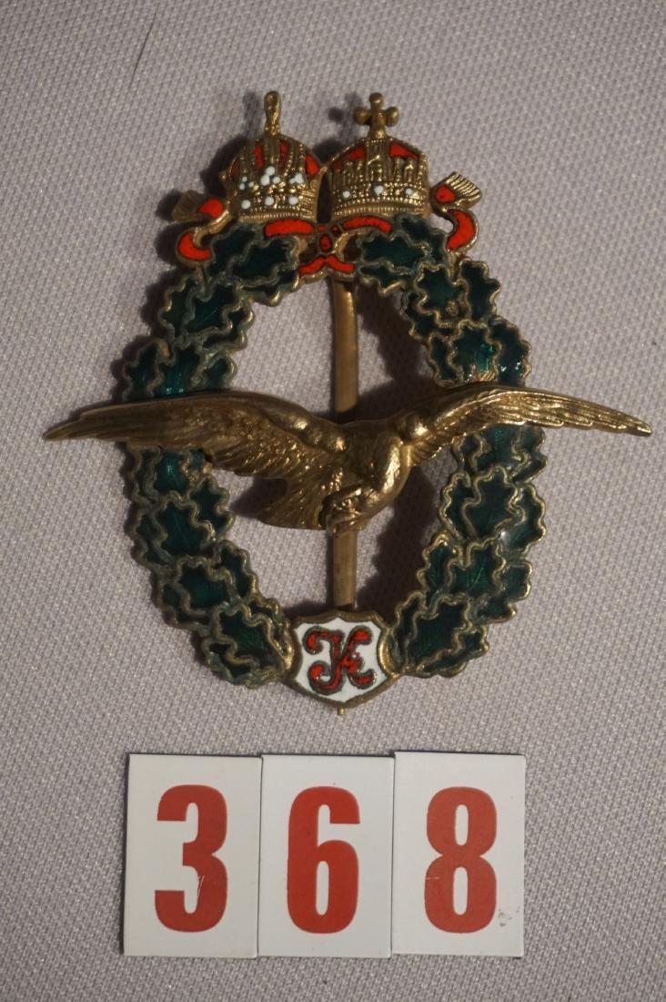 AUSTRIAN WW I PILOT BADGE, 2ND MODEL