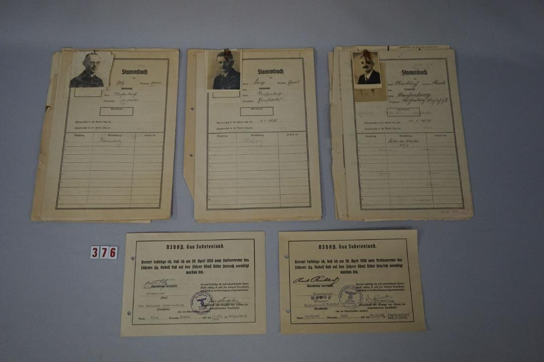 PERSONAL FILES FROM SUDETENLAND NAZI