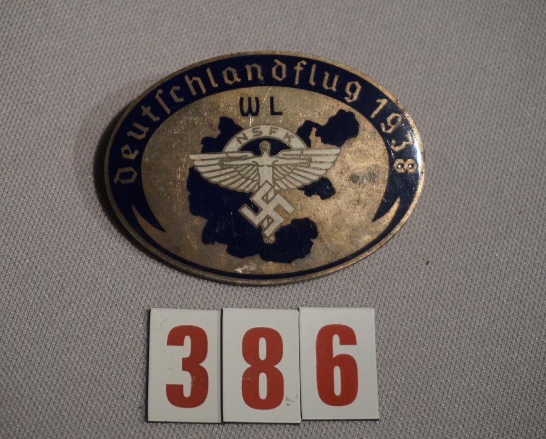 NSFK DEUTSCH FLUG 1938 BADGE,