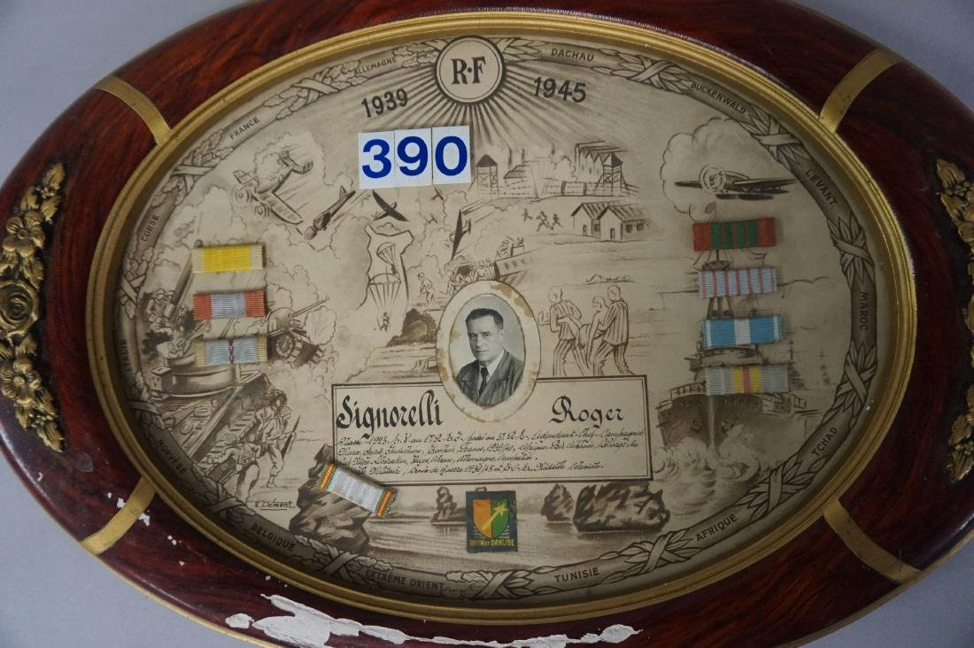 FRENCH OVAL FRAME WITH SERVICE RECORD - 2