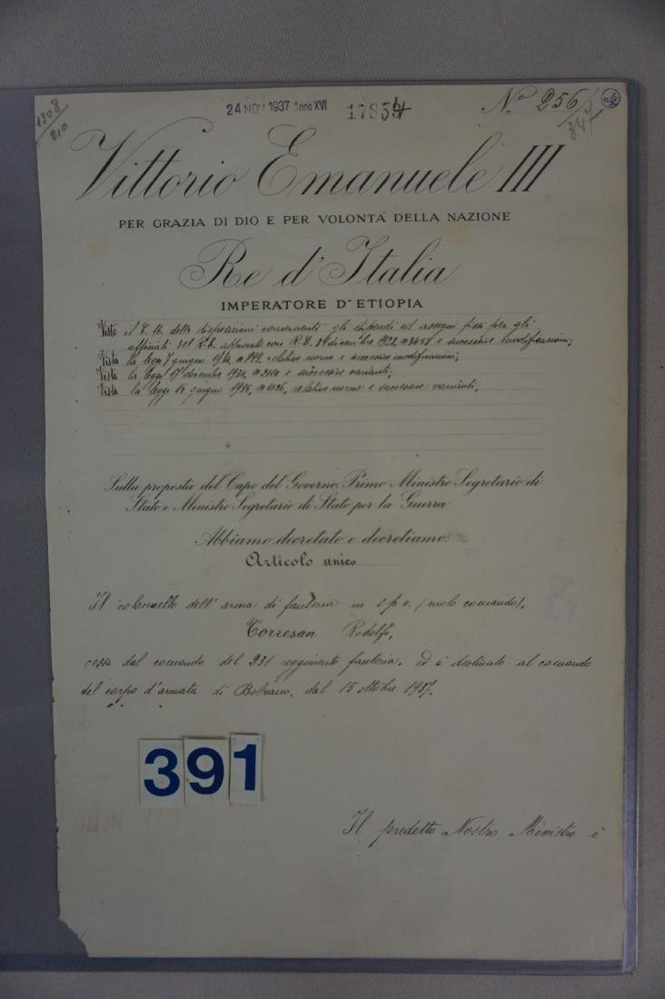 SIGNATURE OF MUSSOLINI & VICTOR EMANUAL