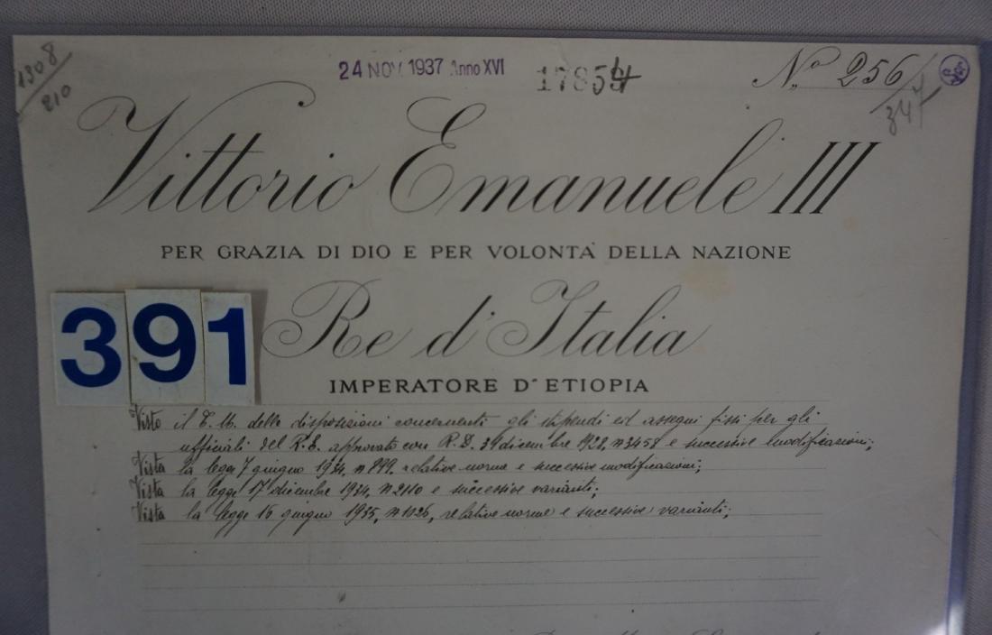 SIGNATURE OF MUSSOLINI & VICTOR EMANUAL - 2