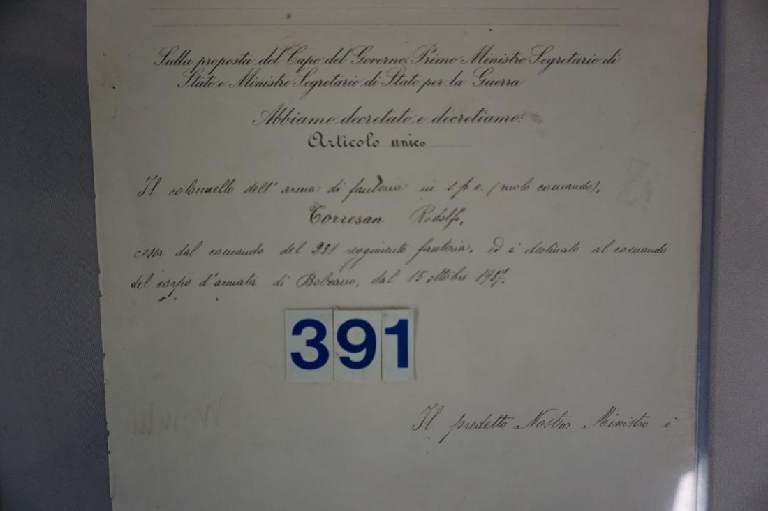 SIGNATURE OF MUSSOLINI & VICTOR EMANUAL - 3