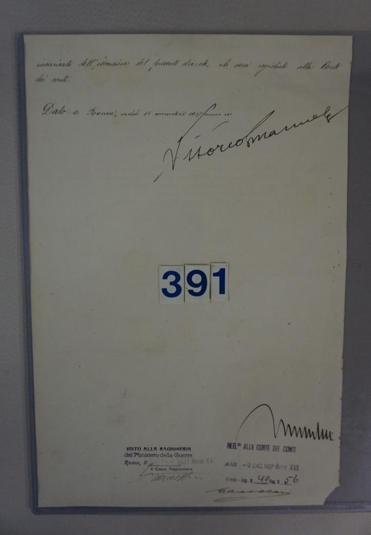SIGNATURE OF MUSSOLINI & VICTOR EMANUAL - 4
