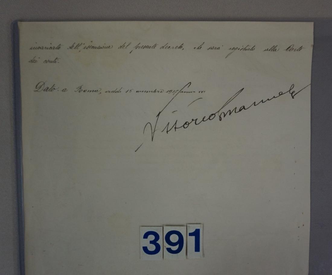 SIGNATURE OF MUSSOLINI & VICTOR EMANUAL - 5