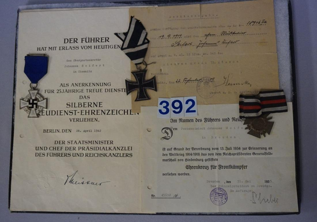 GROUP OF (3) MEDALS WITH CITATIONS