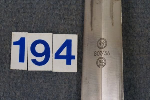 1936 EM SS DAGGER, OWNER IDENTIFIED, - 3