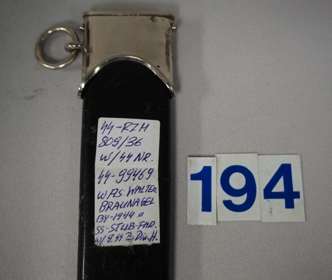 1936 EM SS DAGGER, OWNER IDENTIFIED, - 8
