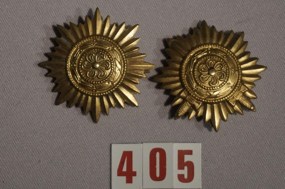 (2 PIECES) EASTERN PEOPLE AWARDS IN GOLD