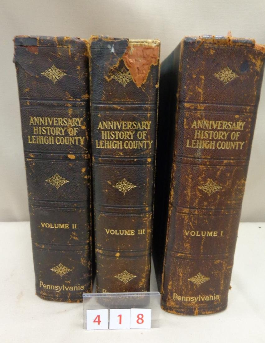 3 VOLUMES: ANNIVERSARY HISTORY OF LEHIGH