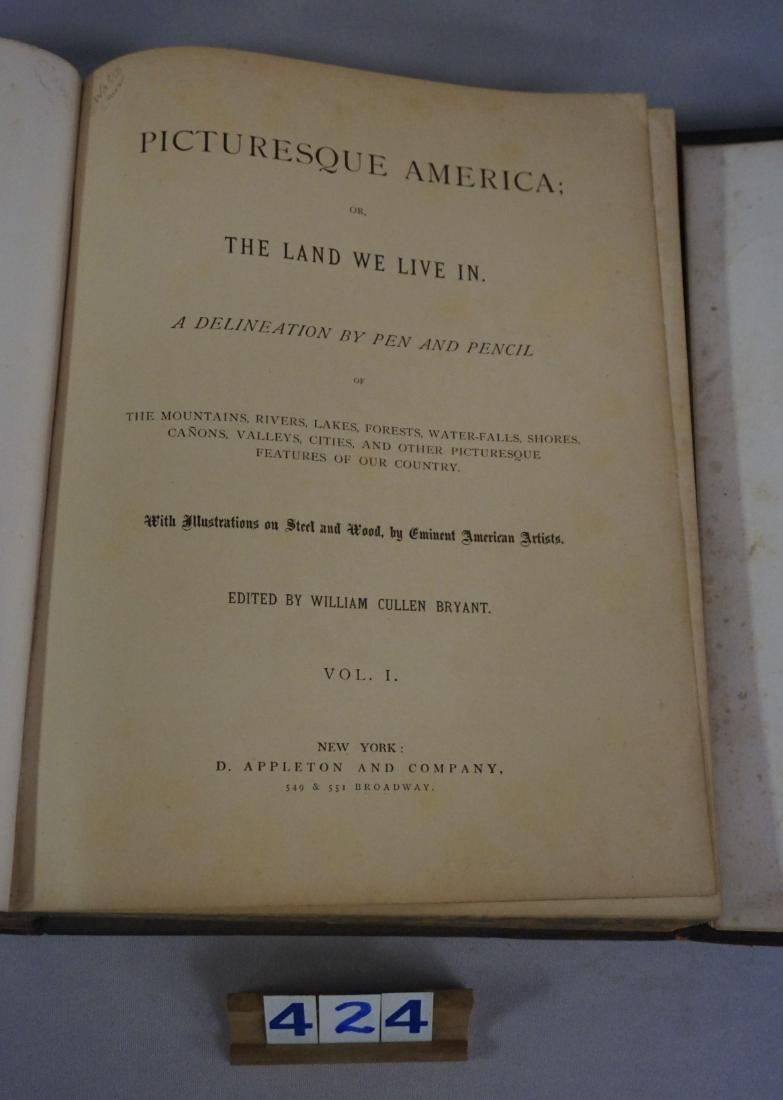 VOLUMES I & II PICTURESQUE AMERICA - 4