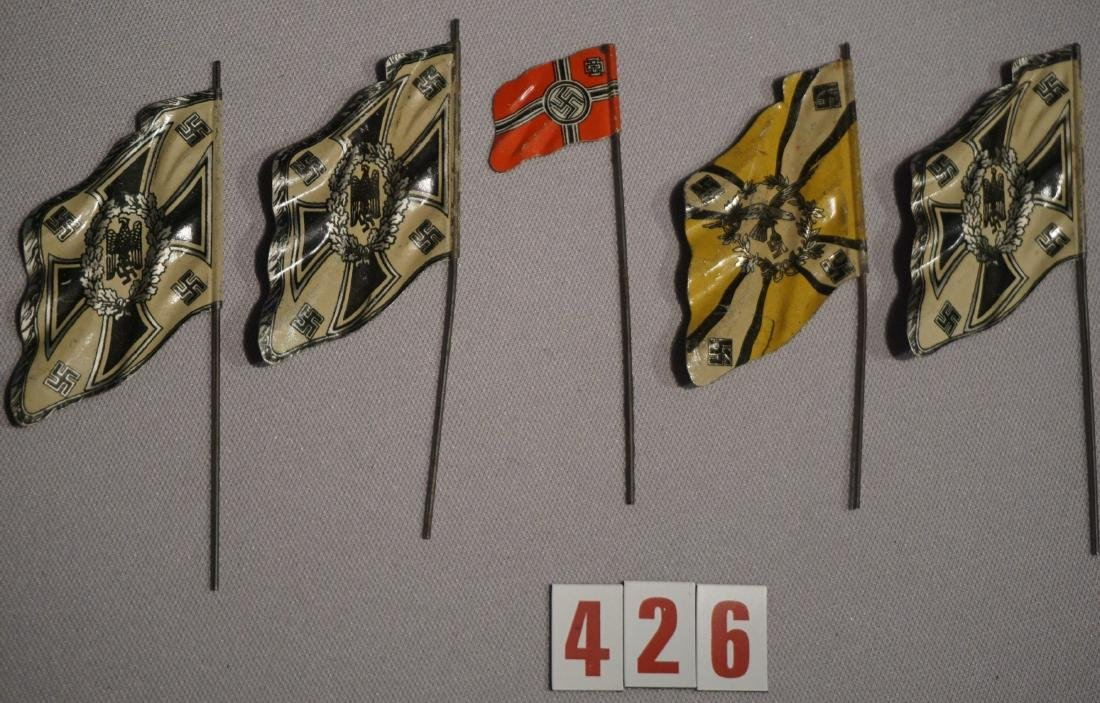 (5) FLAG TINS FOR LINOLEUM TOY SOLDIERS - 2