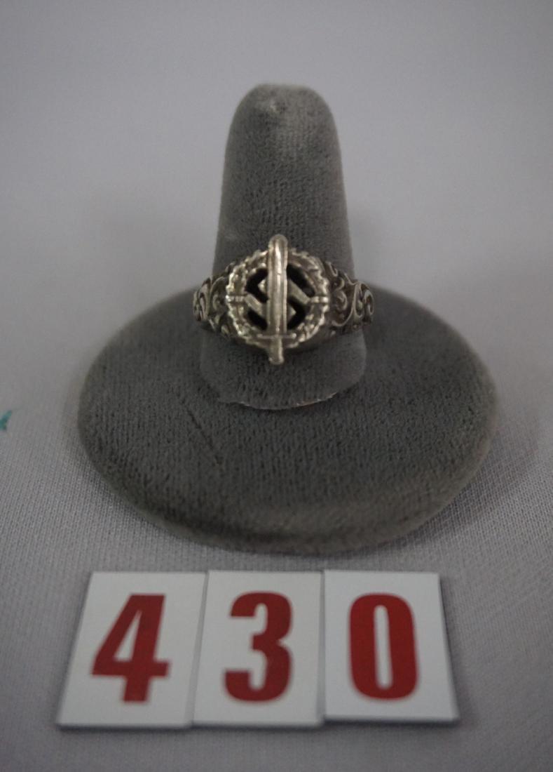 (3) NAZI SILVER RINGS, SA, HITLER & SWASTIKA - 3