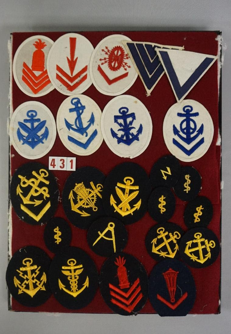 DISPLAY CASE WITH (24) NAVY INSIGNIAS