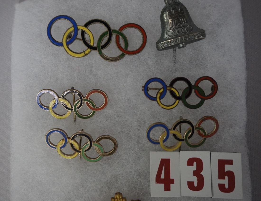 SMALL DISPLAY CASE WITH (7) OLYMPIC - 3