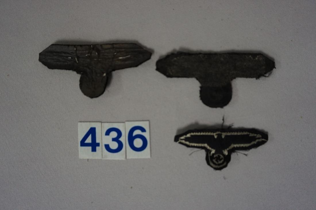 WW II WAFFEN SS SLEEVE & CAP EAGLES - - 2
