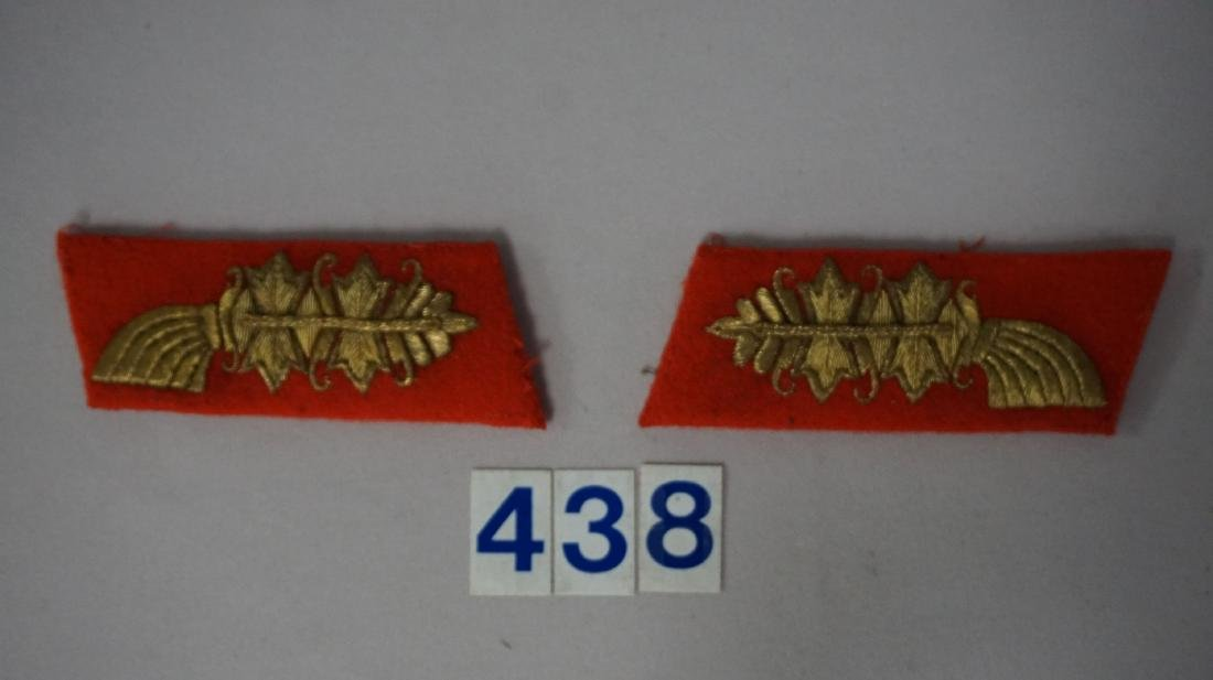 WW II GERMAN GENERAL'S COLLAR TABS -
