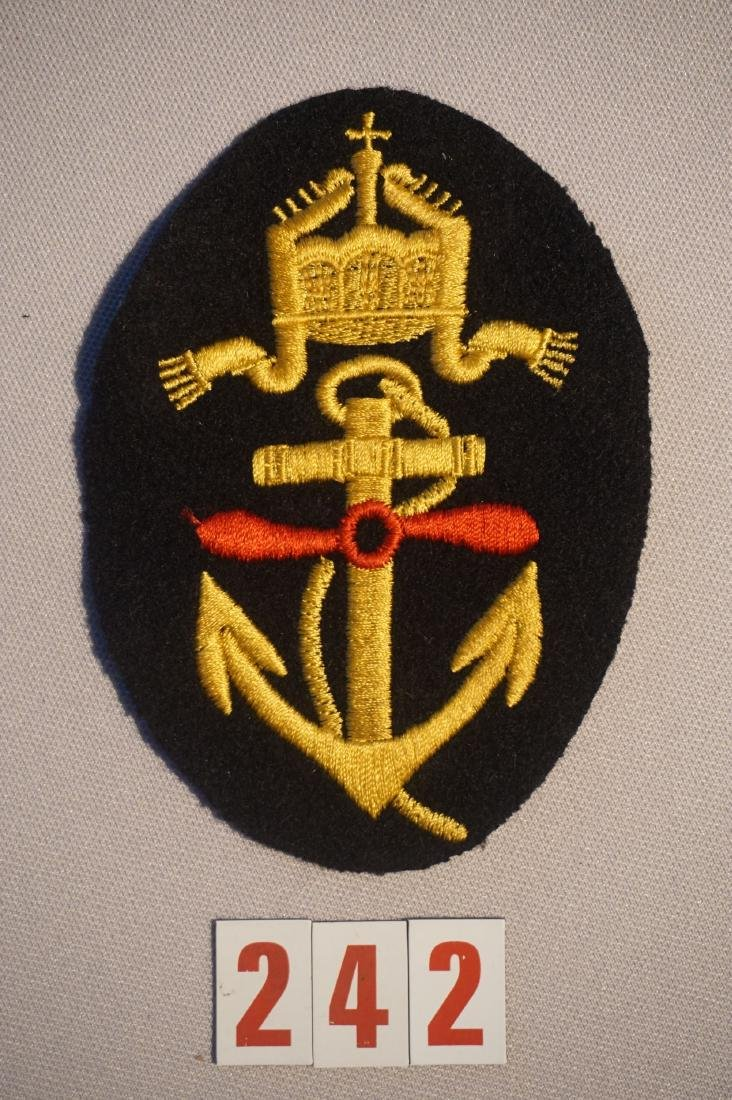 WWI NAVY FLYER ARM PATCH WITH ANCHOR,