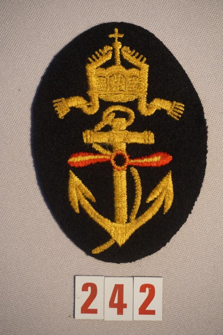 WWI NAVY FLYER ARM PATCH WITH ANCHOR, - 2
