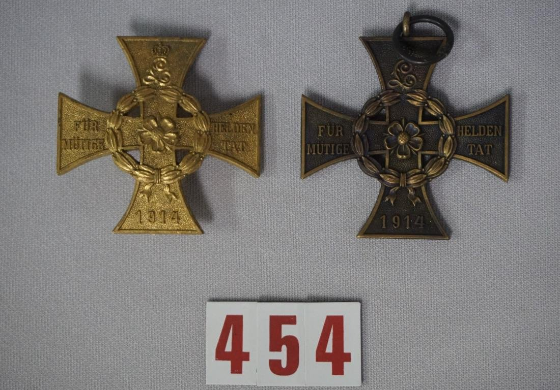 (2 PIECES) WW I GERMAN STATE OF LIPPE