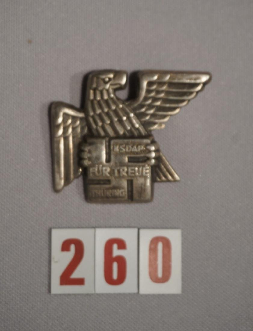 THURINGIA NSDAP BADGE FOR LOYALTY,