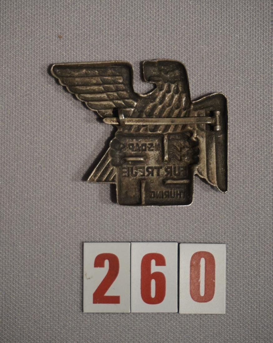 THURINGIA NSDAP BADGE FOR LOYALTY, - 2