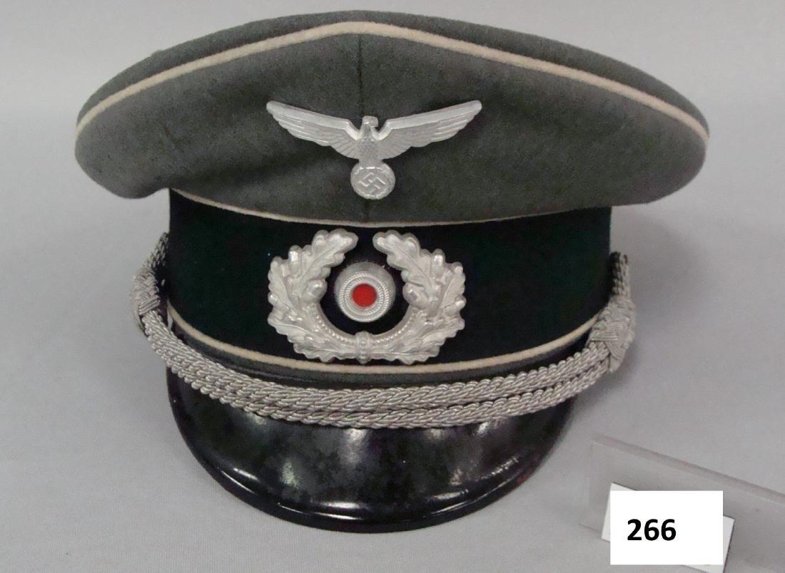 GERMAN WW II INFANTRY OFFICER'S VISOR - 2